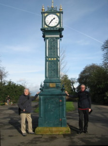 Clock in Brockwell Park